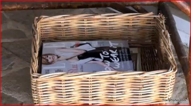 Basket holding magazines
