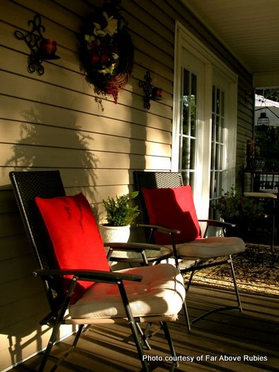 Inviting porch furniture