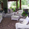 outdoor rug on front porch