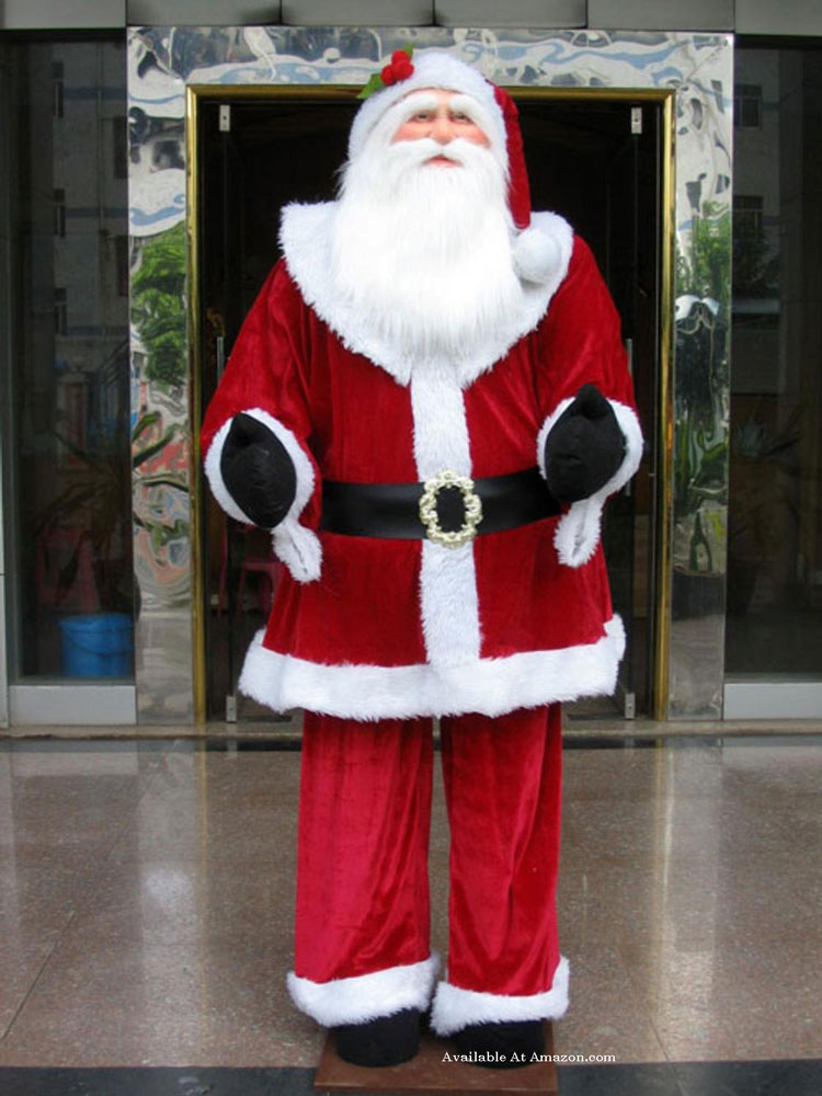 lifelike outdoor santa clause for Christmas