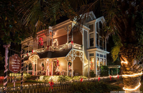 The Williams House Bed And Breakfast, Amelia Island, Florida at Christmas
