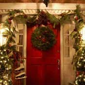Christmas wreath decorations at Susan's home