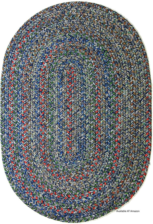 oval reversible multi-color outdoor rug