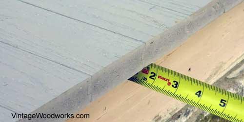 overhang 1 inch