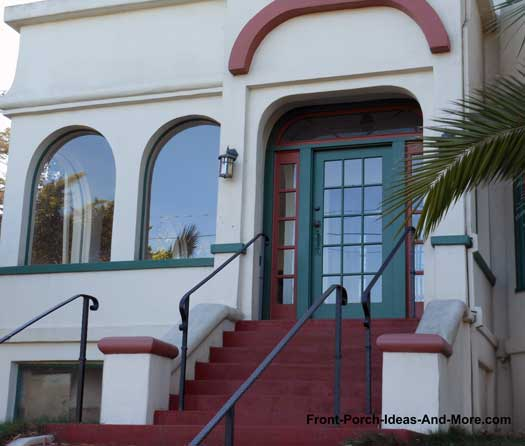 Stucco Beauty with glass front door