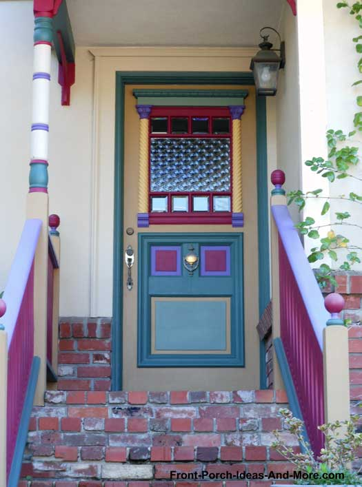Exquisite front door in true Victorian style