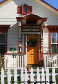 colorful exterior door