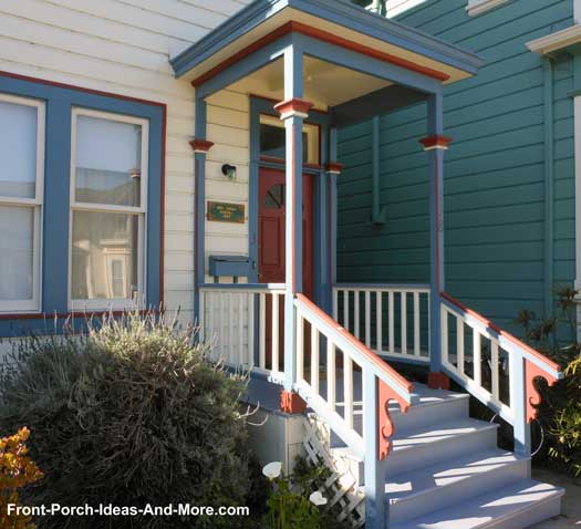 small porch with Victorian appeal