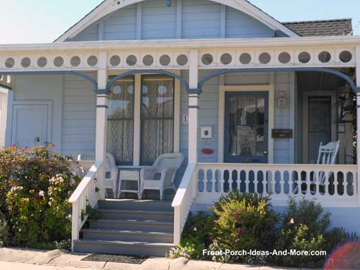 Pacific Grove front porch with spandrel