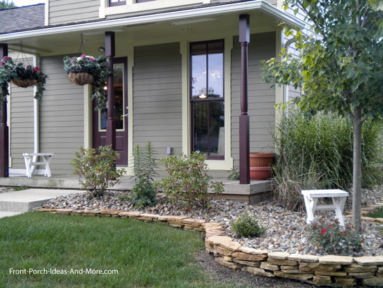 Painted Stone Pillars : Porch columns design options for curb appeal