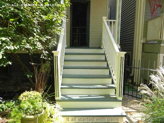 Painted porch steps