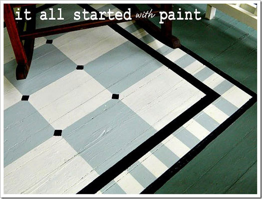 Linda's painted rug