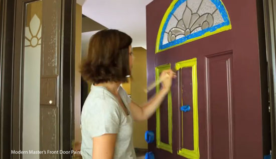 painting front door with  Modern Masters Front Door Paint