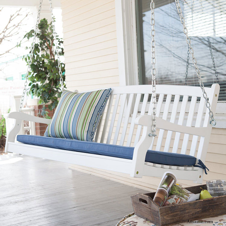 Comforting Wood Porch Swings Are Beautiful