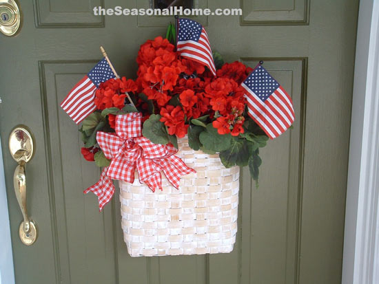 Eileen's patriotic wreath on her front door