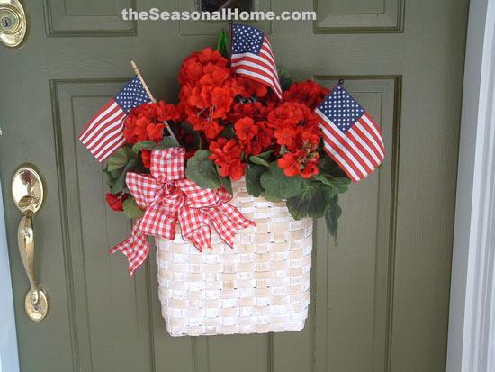 Eileen's patriotic wreath on her front door