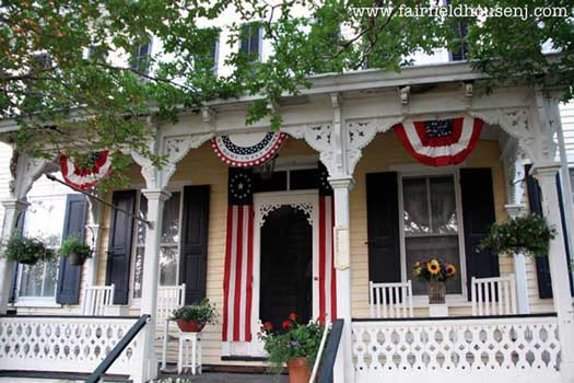 Fairfield House Patriotic Porch