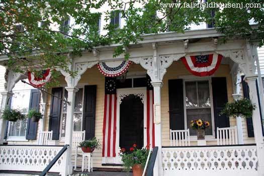 Fairfield House Patriotic Porch