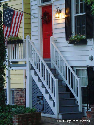 patriotic porch in VA