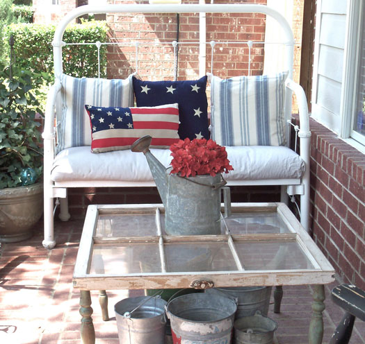 Comfortable front porch by 3 Ring Cottage