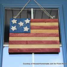 patriotic wooden americana flag project photo