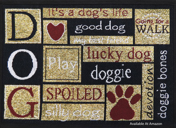 dog themed outdoor rug