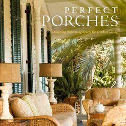 cover photo of book titled perfect porches