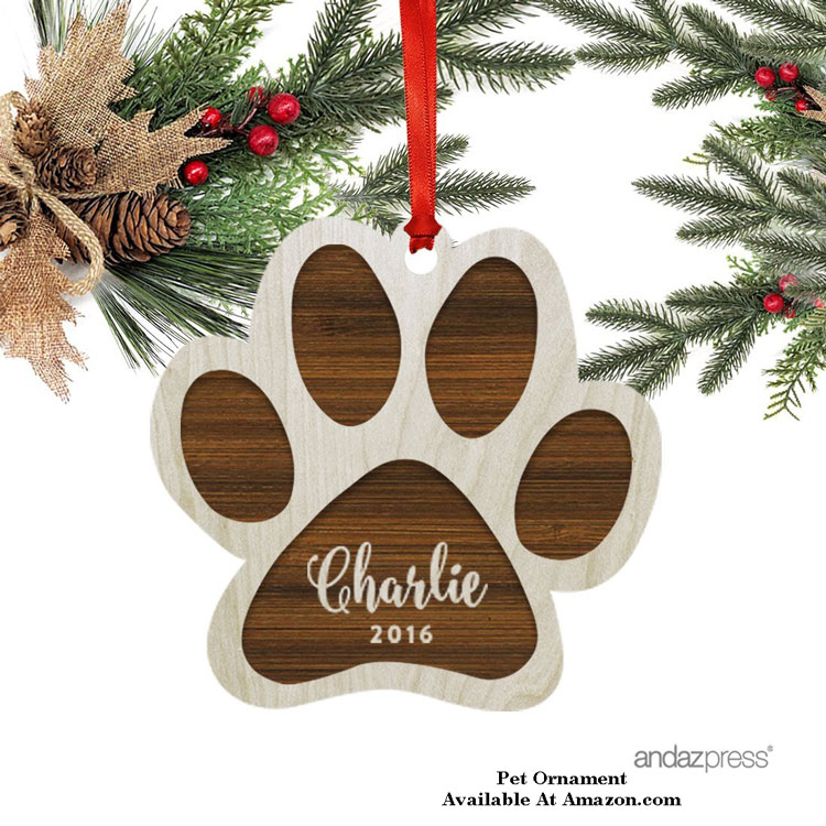 pet paw ornament for christmas