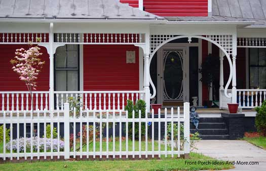 iconic picket fence and front porch