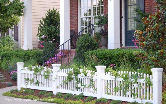 picket fence covered with vines