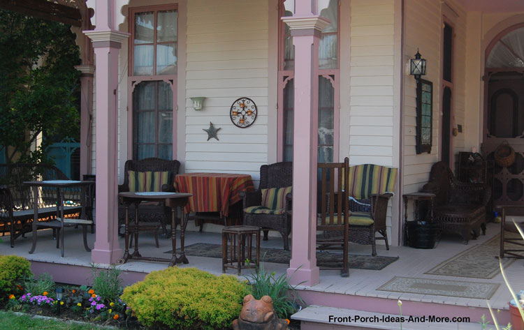 Victorian Porch with ornate column brackets