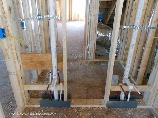 plumbing in new wall construction