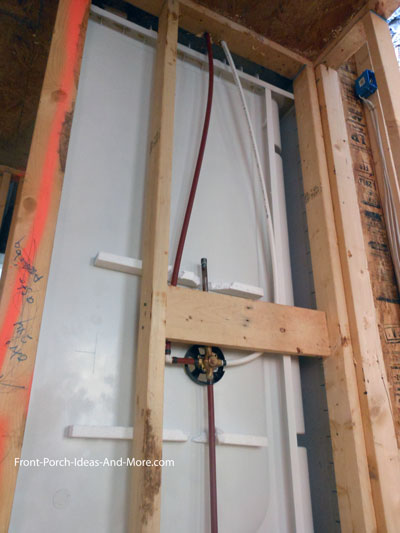 plumbing rough in for master shower