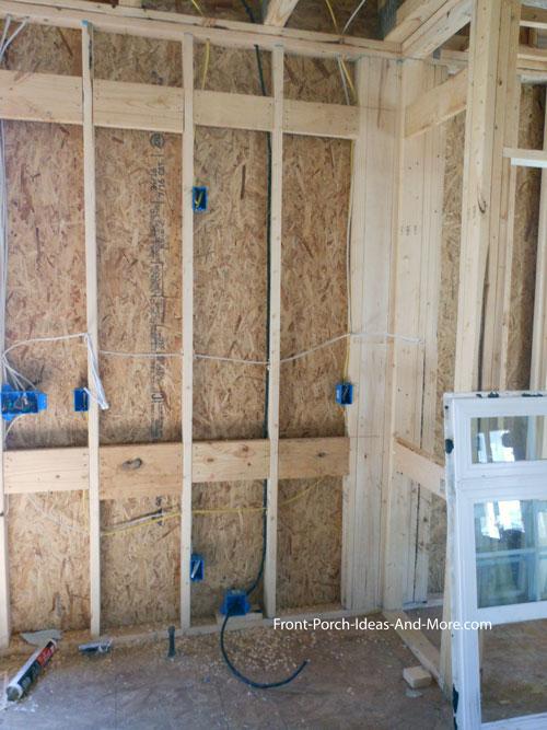 plumbing rough in receptacles and range