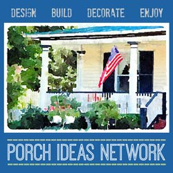 graphic depicting porch ideas network