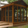 screen porch addition on back deck