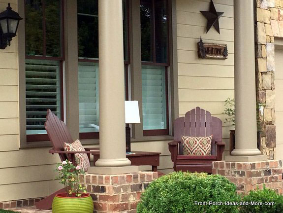 adirondack chairs on front porch