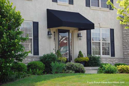 Black porch awnings