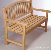 wooden porch bench for fall