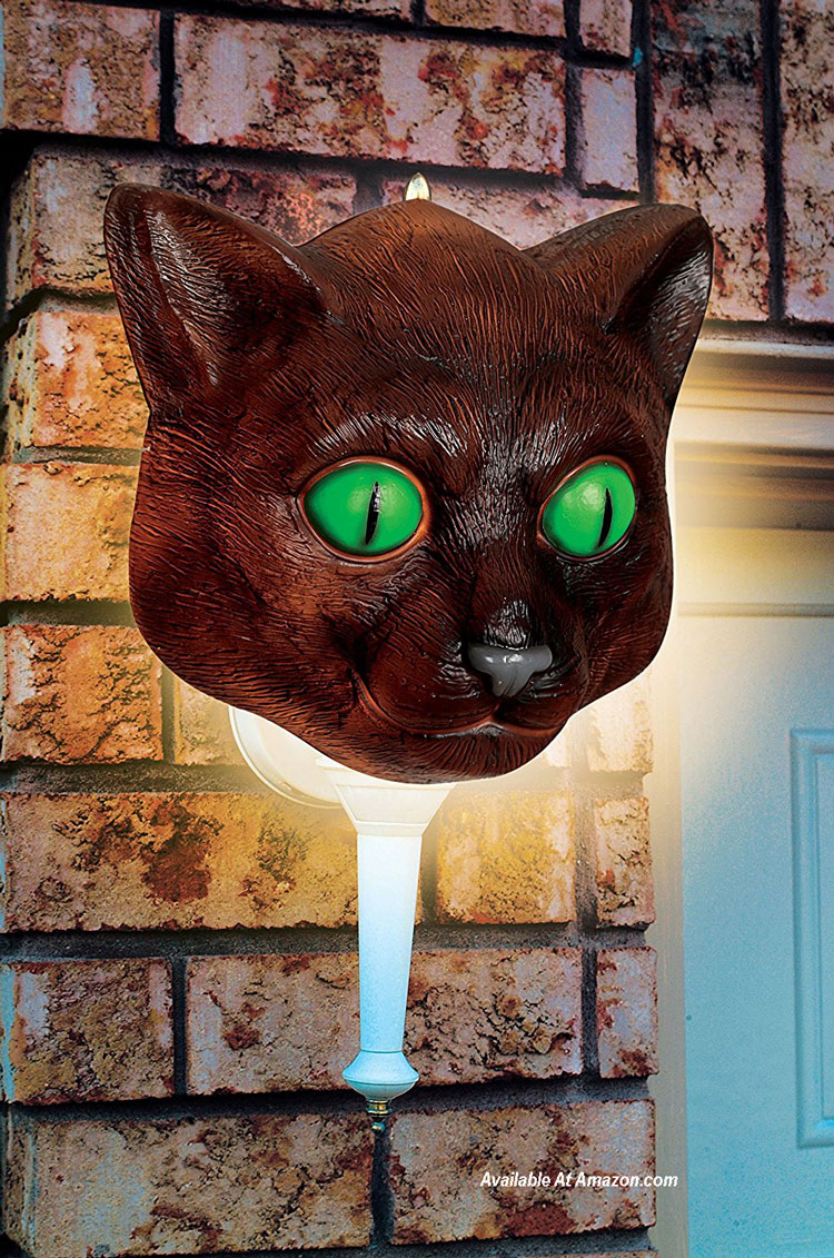 black cat porch light covers for Halloween
