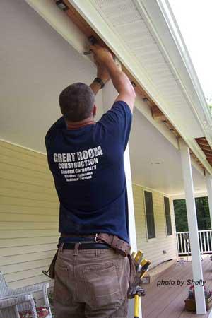 blocking - porch ceiling