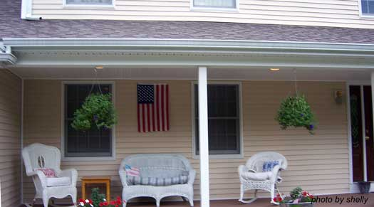Sandy's completed porch ceilings