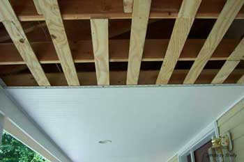 Porch Ceilings Installing Vinyl Bead Board Ceiling