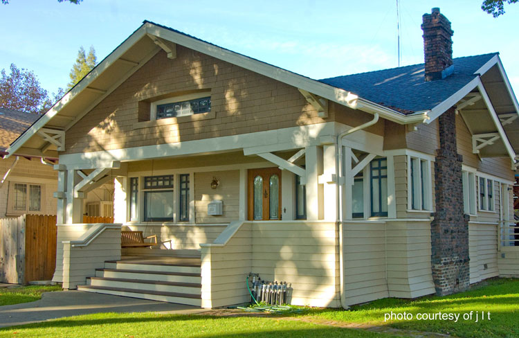 Craftsman style home design bungalow designs arts and for Bungalow porch columns