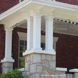 multiple Wooden Porch Posts on front porch