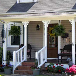 turned porch columns