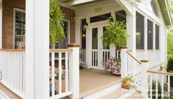 combination front and screened porch