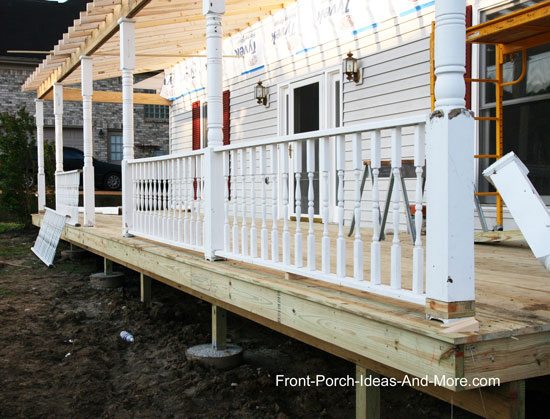large front porch under construction
