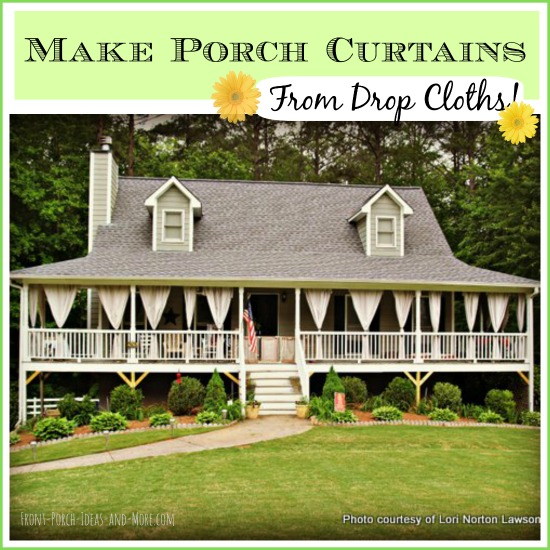 Handmade outdoor curtain panels made by Lori