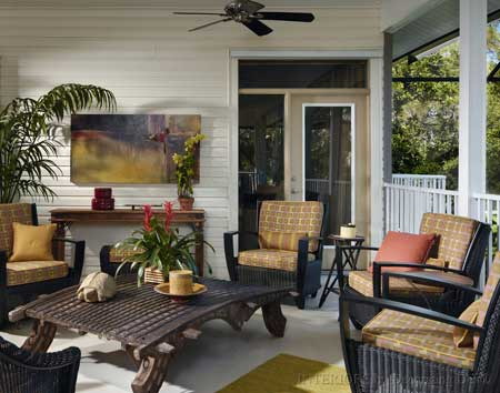 Furniture placement ideas front porch decorating - Fresh blue deck furniture design ideas for relaxing outdoor rooms ...